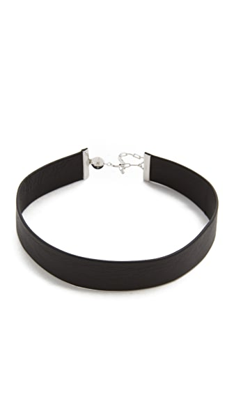 Jennifer Zeuner Jewelry Leather Choker Necklace