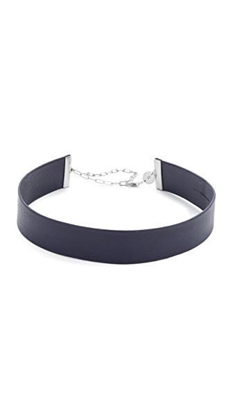 Jennifer Zeuner Jewelry Ivy Whit Choker Necklace - Navy