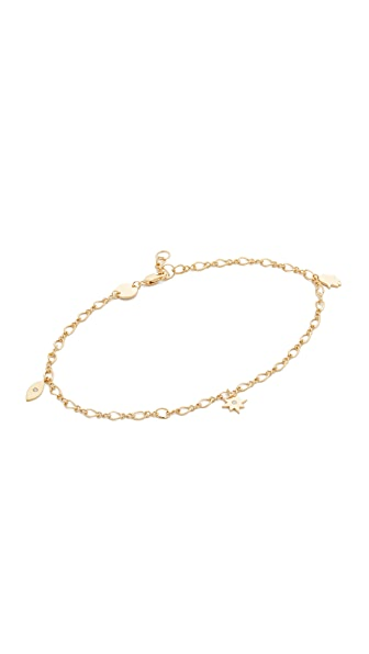Jennifer Zeuner Jewelry Roza Anklet In Gold