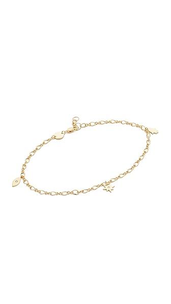 Jennifer Zeuner Jewelry Roza Anklet - Gold