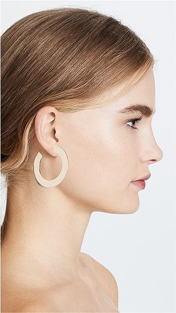 Jennifer Zeuner Jewelry Golda Medium Hoop Earrings