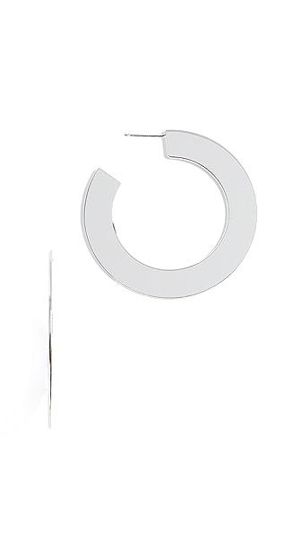 Jennifer Zeuner Jewelry Golda Medium Earrings In Silver
