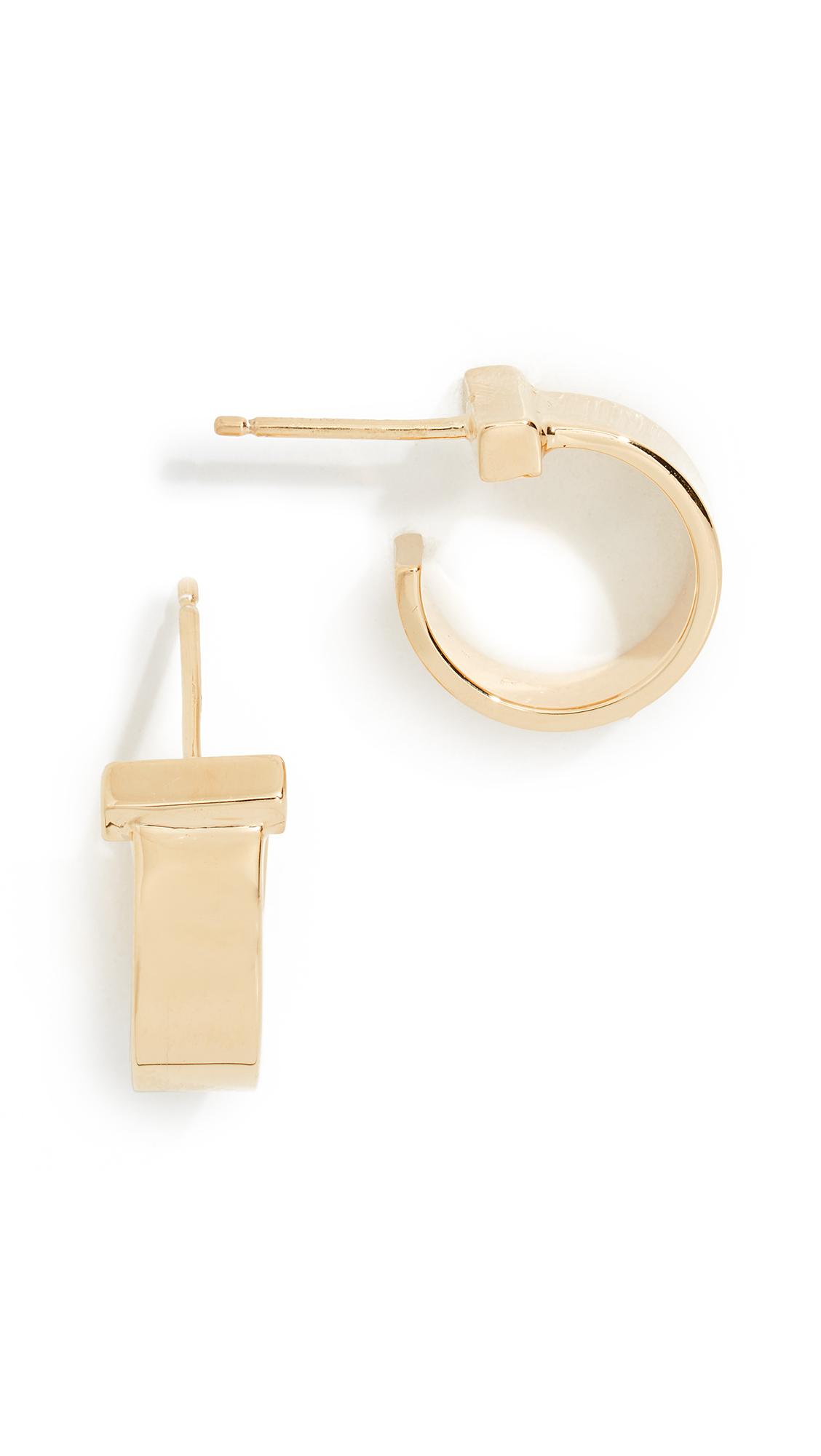JENNIFER ZEUNER JEWELRY June Xs Earrings in Gold
