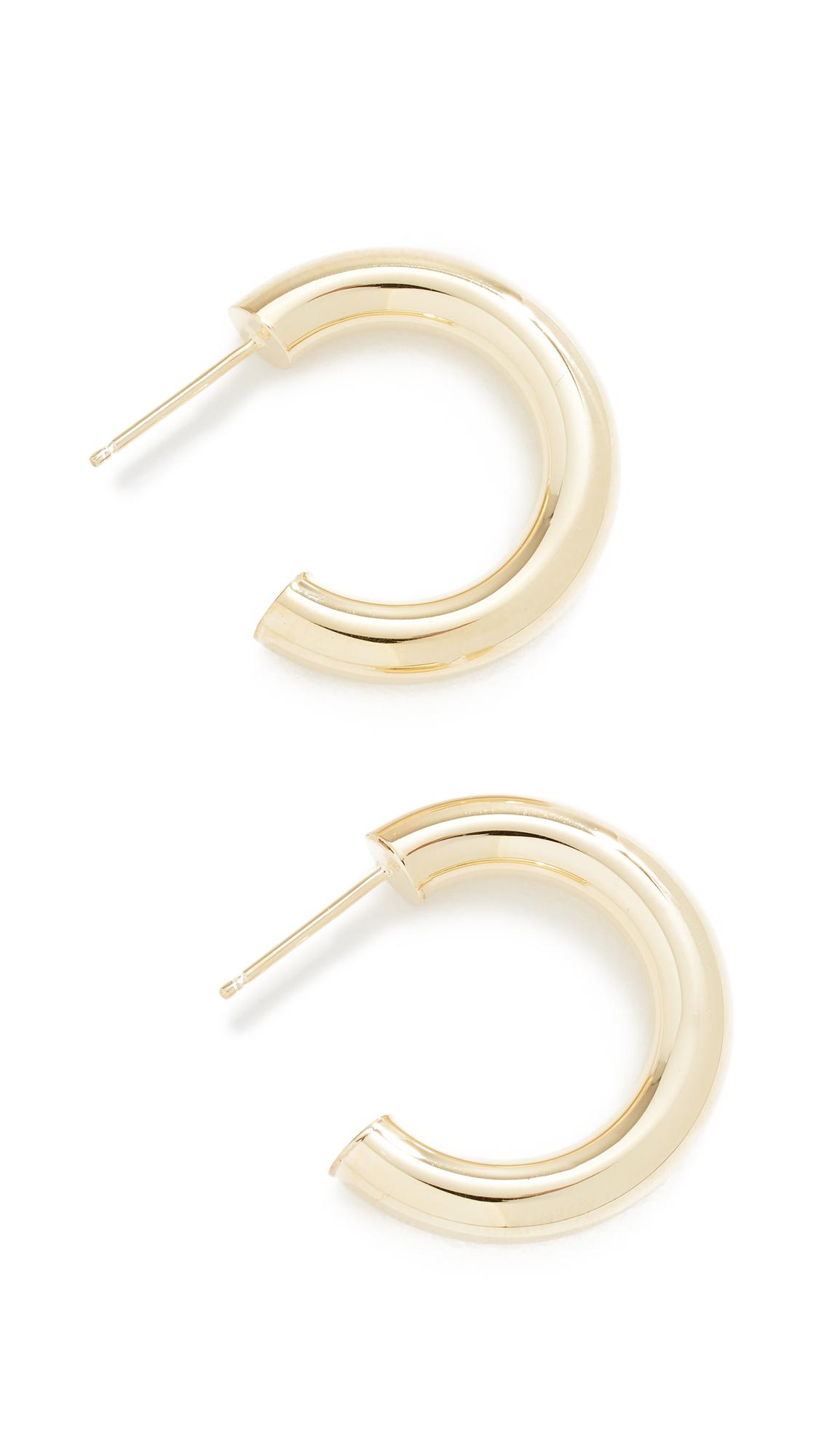 JENNIFER ZEUNER JEWELRY Lou Earrings in Gold