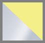 серебряный/неоновая желтая эмаль