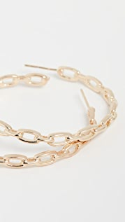 Jennifer Zeuner Jewelry Carmine Hoop Earrings