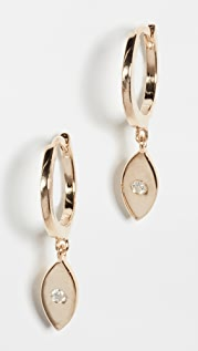 Jennifer Zeuner Jewelry Nazar Huggie Earrings