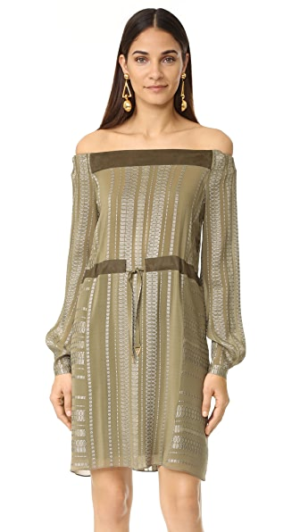 ZEUS+DIONE Leto Off the Shoulder Dress - Khaki