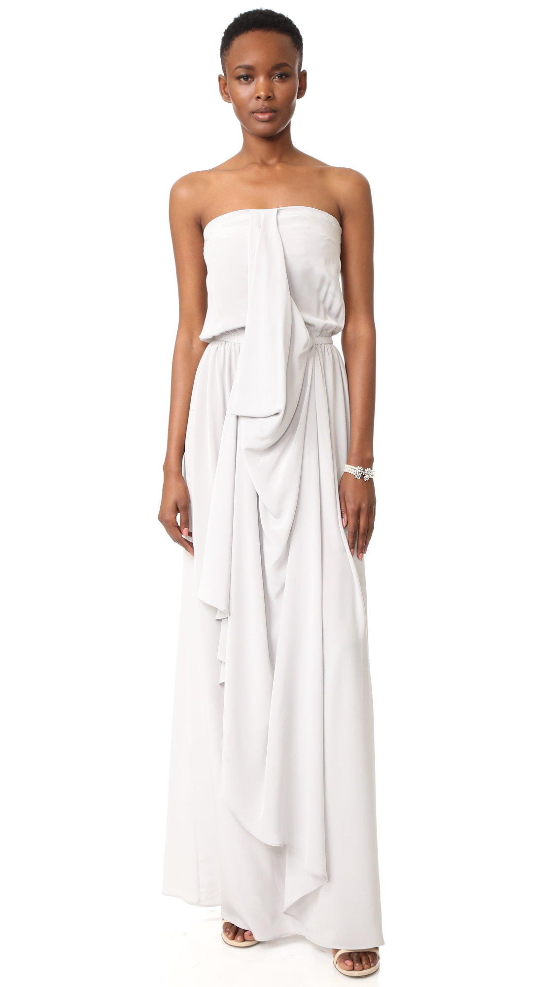 Zimmermann Strapless Draped Maxi Dress - Mist