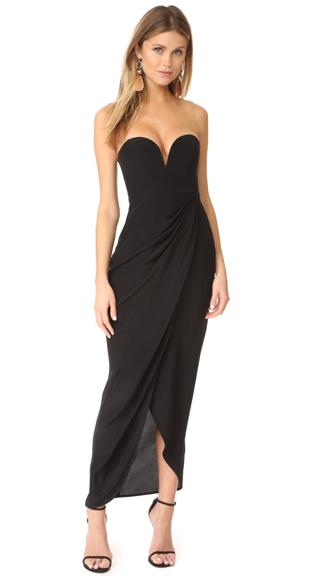 Zimmermann Strapless Drape Maxi Dress - Black