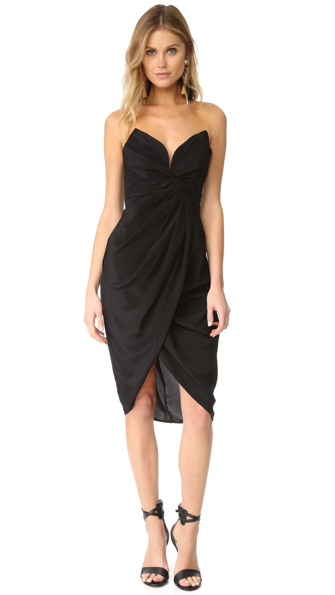 Zimmermann Silk Petal Twist Dress - Black