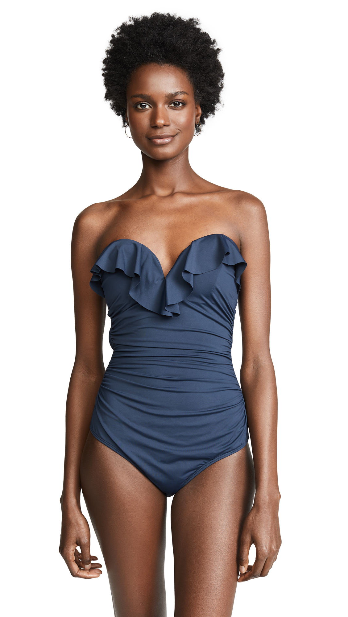 Zimmermann Frill One Piece - Navy
