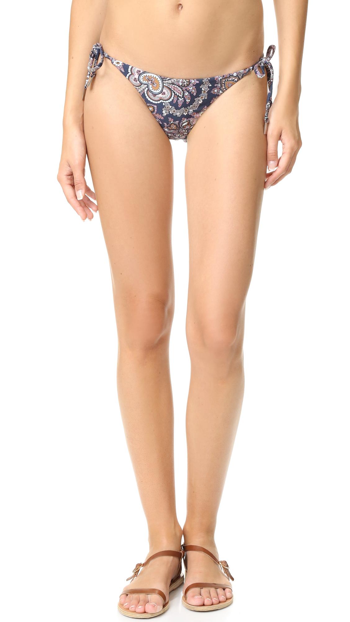 zimmermann female zimmermann separates tie side bikini bottoms navy paisley