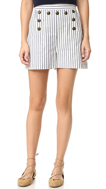 Zimmermann Zephyr Button Shorts
