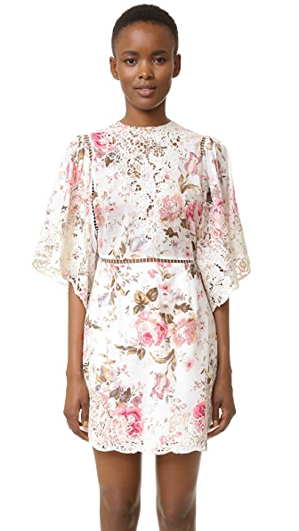 Zimmermann Eden Embroidered Dress - Floral
