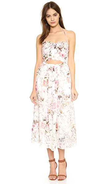 Zimmermann Eden Embroidered Tie Dress - Floral