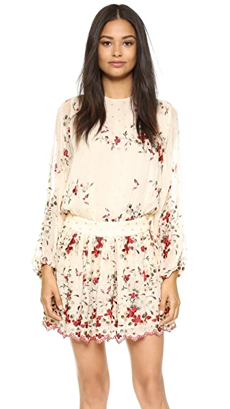 Zimmermann Sakura Embroidery Dress - Nude Floral
