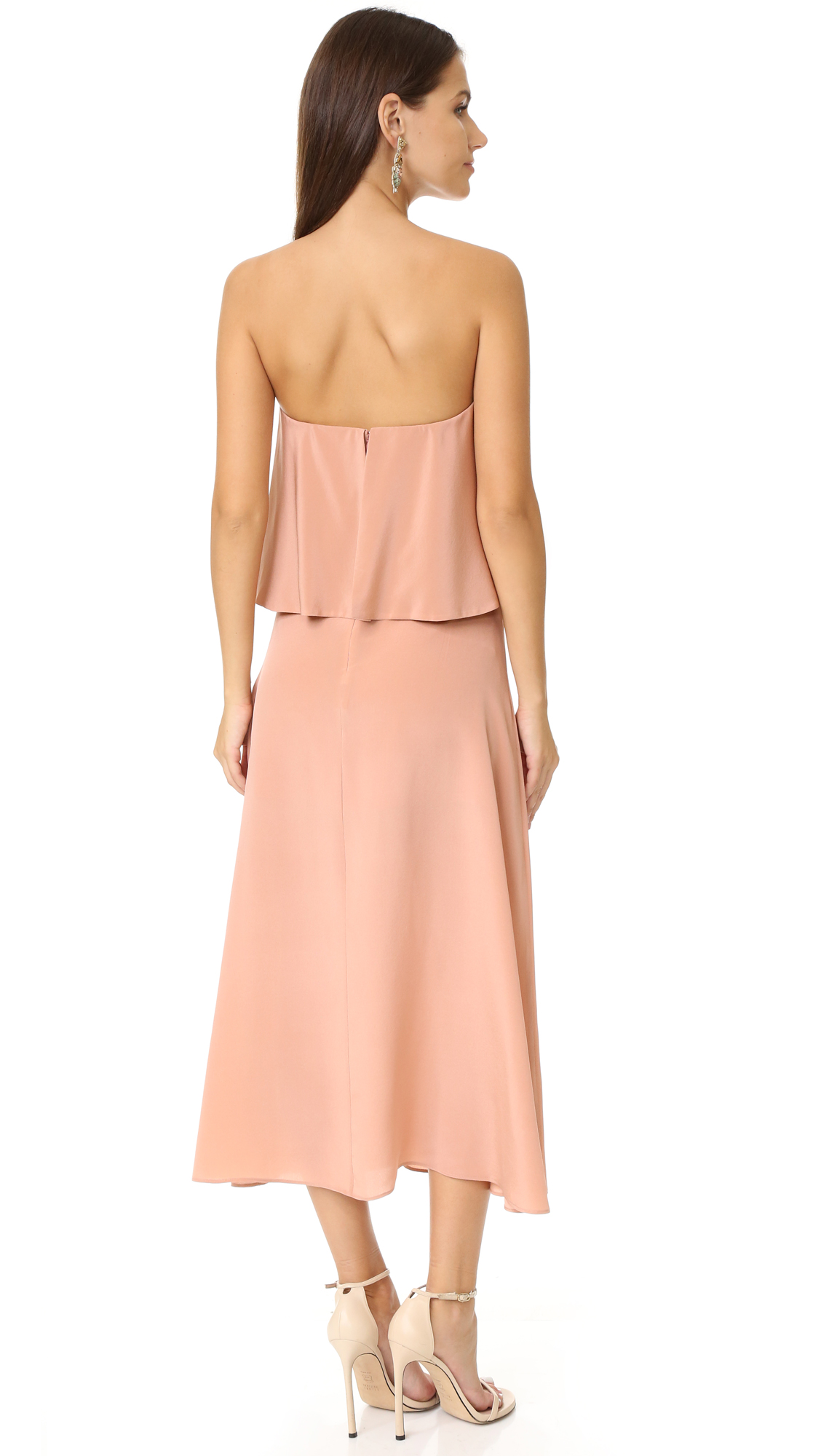 Zimmermann Silk Strapless Flounce Dress |