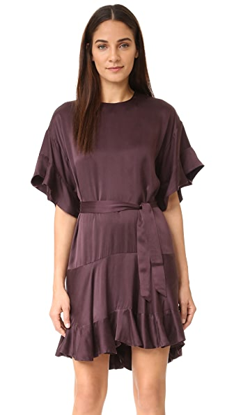 Zimmermann Sueded Flounce Dress