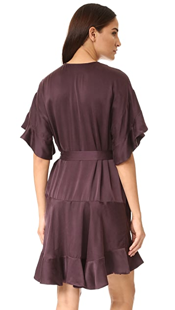 Zimmermann Sueded Flounce Dress