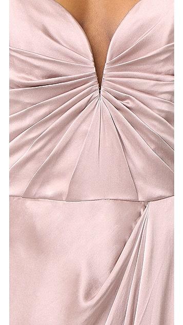 Zimmermann Sueded Drape Long Dress