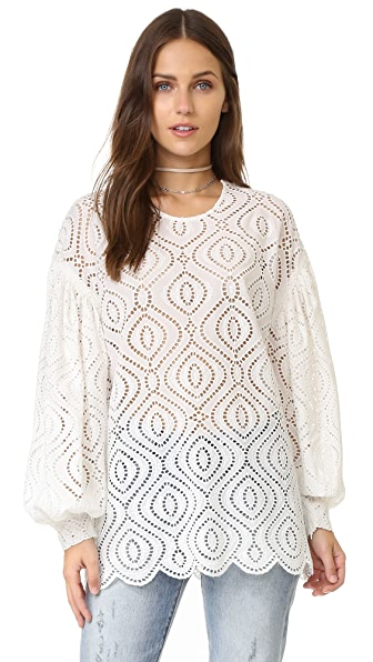 Zimmermann Karmic Embroidered Blouse