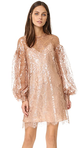 Zimmermann Lavish Lace Billow Tunic Dress