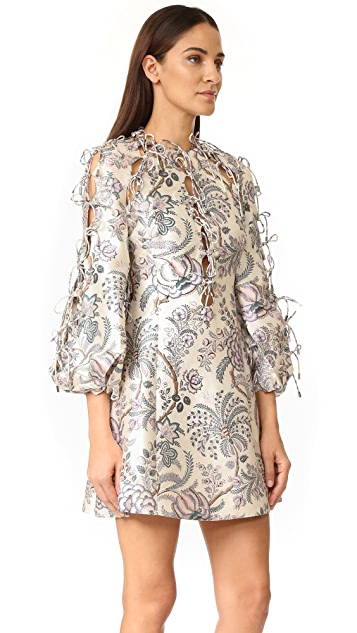 Zimmermann Adorn Tie Up Dress