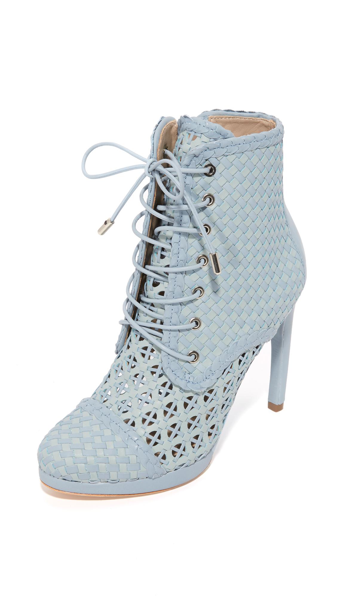 Zimmermann Weave Ankle Booties - Metal