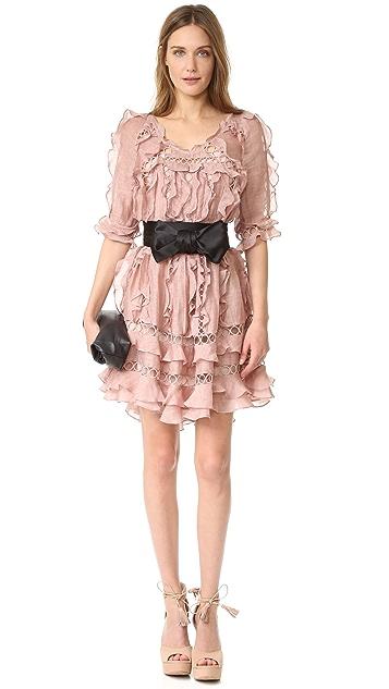 Zimmermann Winsome Ruffle Sphere Dress