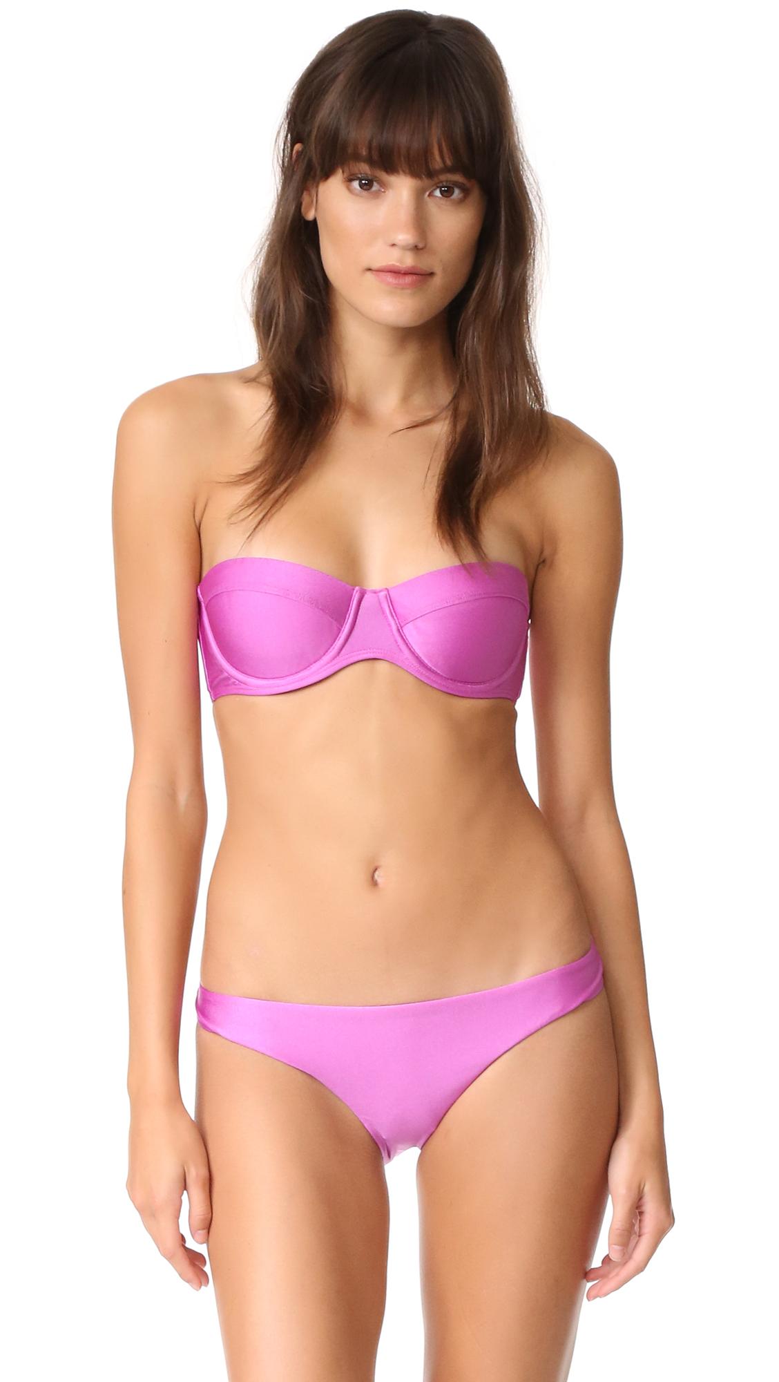 zimmermann female zimmermann separates underwire bikini top hot pink