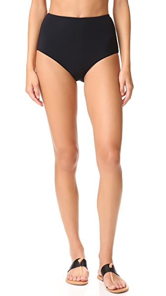 Zimmermann Separates High Waisted Bikini Bottoms - Black