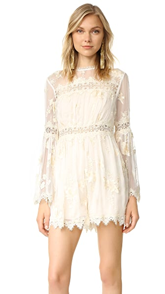 Zimmermann Tropicale Antique Romper - Ivory