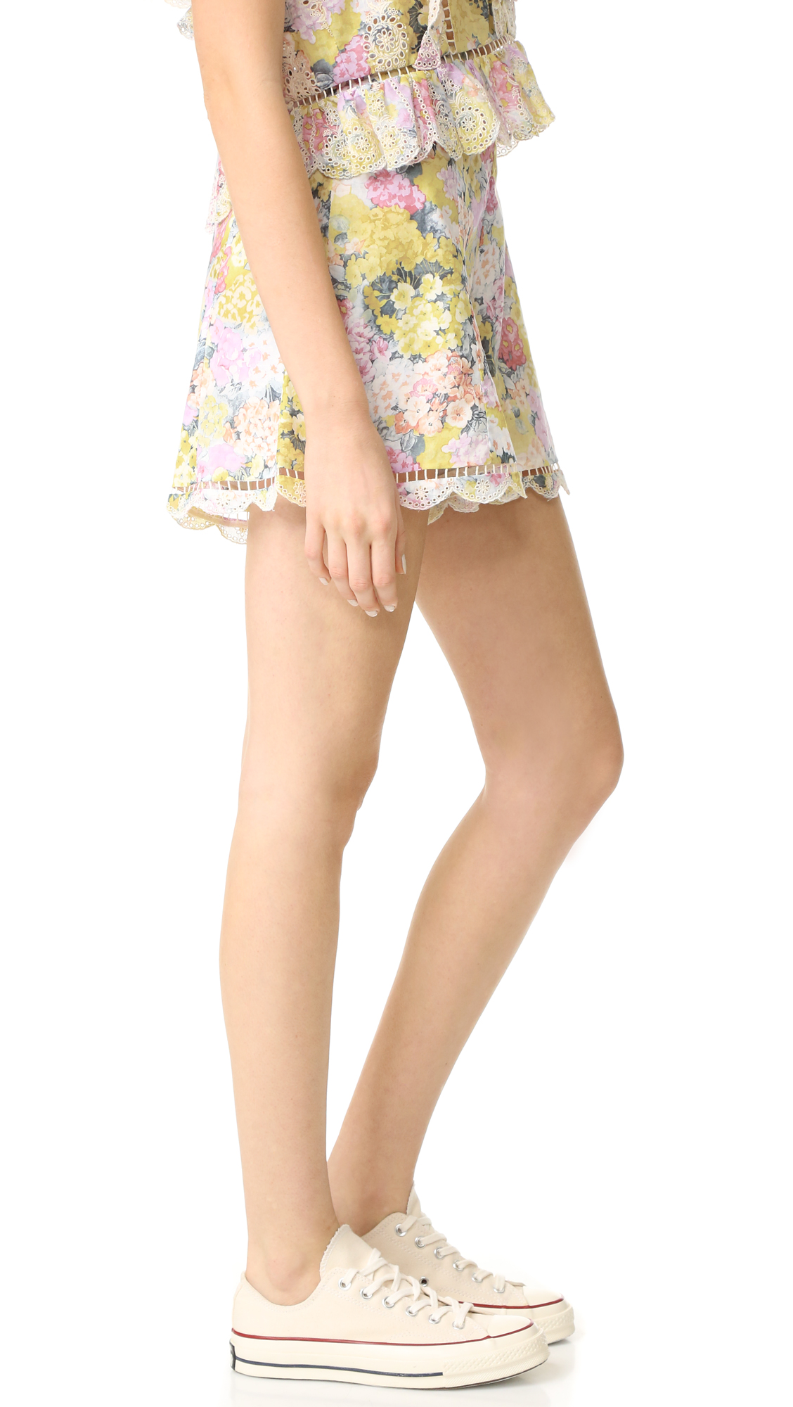 fc7a2eb9592 Zimmermann Valour Hydrangea Flare Shorts