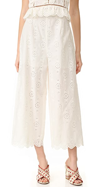Zimmermann Valour Wide Crop Pants - White