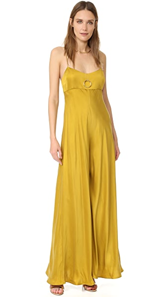 Zimmermann Winsome Bias Jumpsuit - Citrus