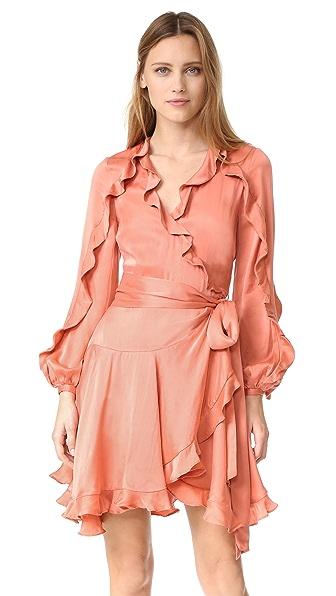 Фото Zimmermann Платье-халат Winsome с воланами. Купить с доставкой