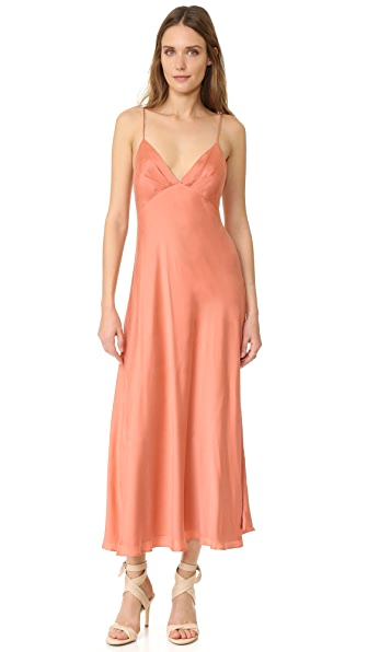 Zimmermann Winsome Bias Slip Dress - Guava