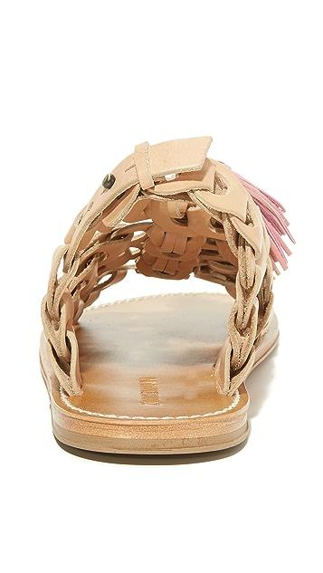 Zimmermann Link Tassel Flat Sandals