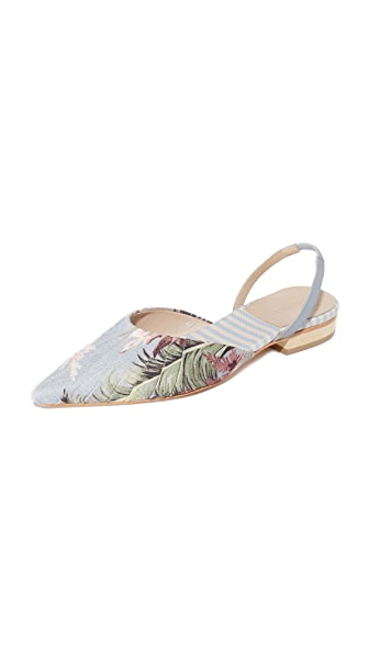 Zimmermann Printed Flats - Hawaiian Blue