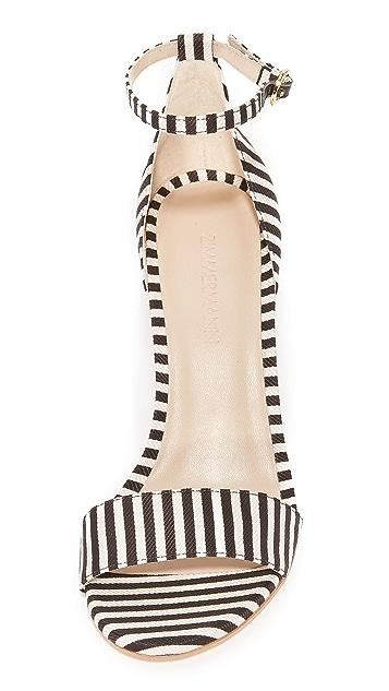 Zimmermann Printed Strap Sandals