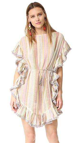 Zimmermann Tropical Flutter Fringe Cover Up