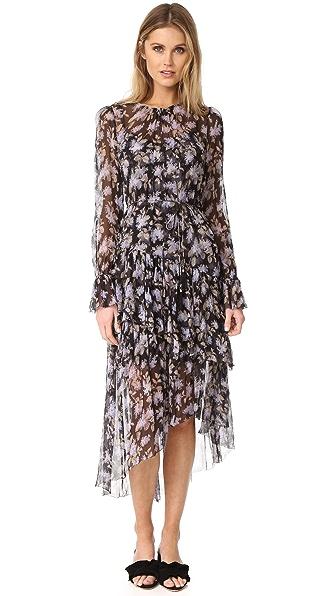 Zimmermann Stranded Tier Dress - Black Lavender