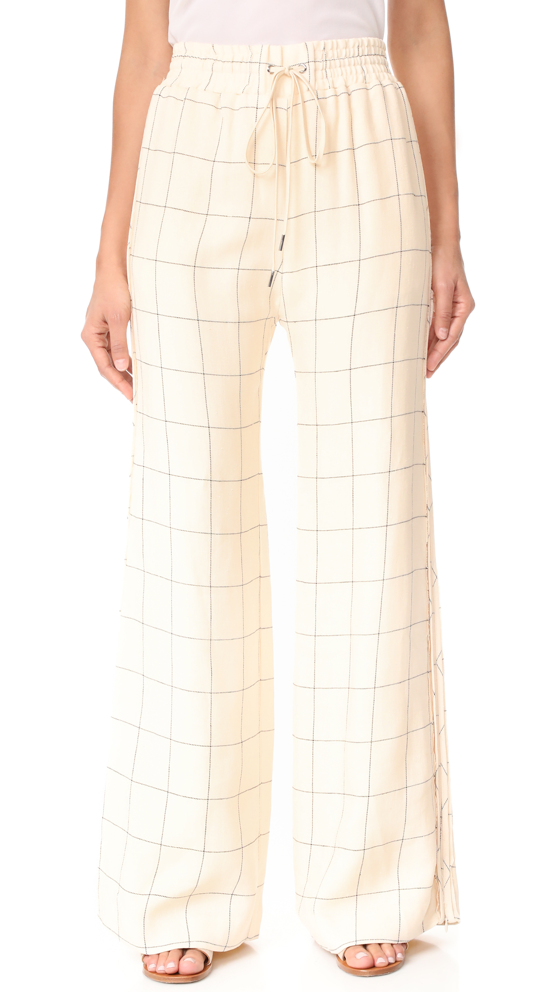 Zimmermann Stranded Threadbare Pants - Check