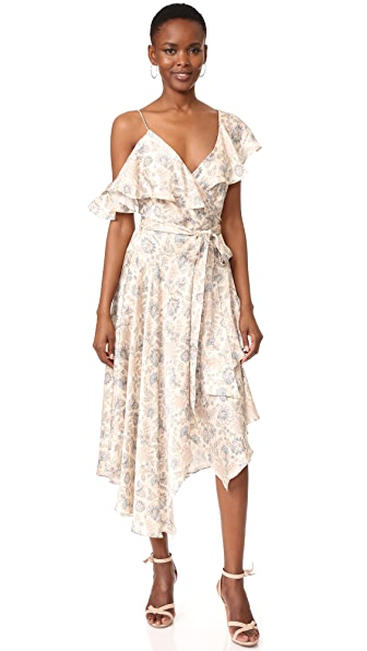 Zimmermann Stranded Flared Wrap Dress