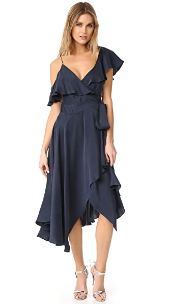 Zimmermann Asymmetrical Wrap Dress