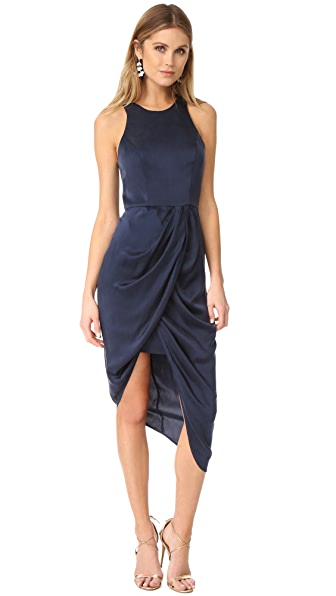 Zimmermann Sueded Drape Dress