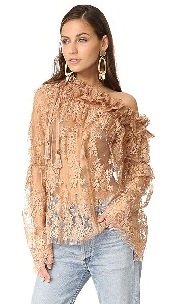 Фото Zimmermann Кружевная блуза Bowerbird. Купить с доставкой