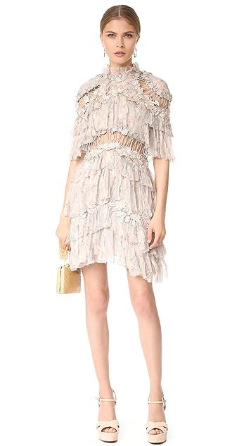 Zimmermann Stranded Tier Mini Dress