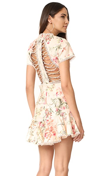 Zimmermann Mercer Flutter Dress - Cream Floral